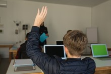 Student  Raising Hand For Asking Query
