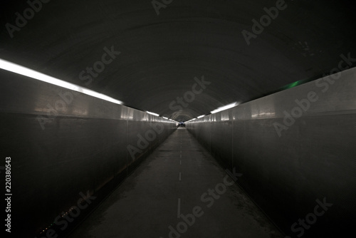 Photo Light at the end of the tunnel. Concept of hope