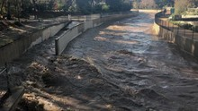 After A Rainstorm, Flood Water...