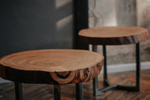 Tree. Wood Carving. Wooden Products. Interior. Beautiful Decor. Style. Table. Elements Of The Interior. Loft Style