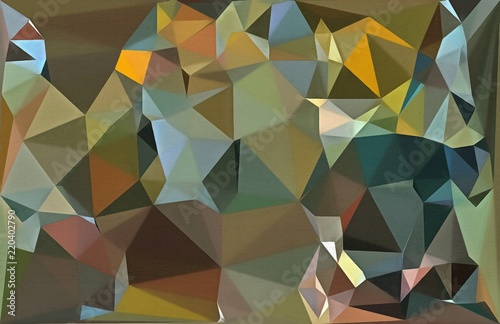 Foto op Aluminium ZigZag Polygonal drawing on canvas. Abstract geometric modern art. Triangles texture background.