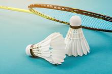 Shuttlecock And Badminton Rack...