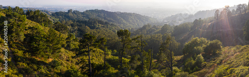 Fotografía Aerial Panorama of Oakland Hills in Northern California