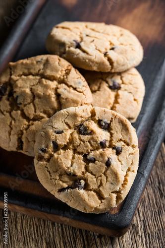 Spoed Foto op Canvas Koekjes Homemade cookies with chocolate
