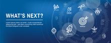 What's Next Header Web Banner Showing The Next Big Idea