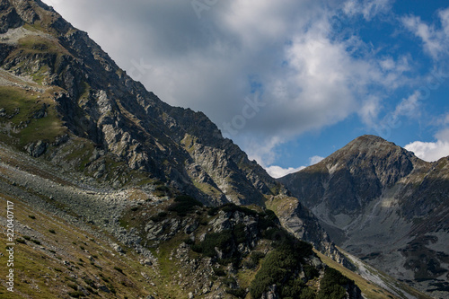 Foto op Plexiglas Grijs Breathtaking landscape of Rohace in Slovak republic