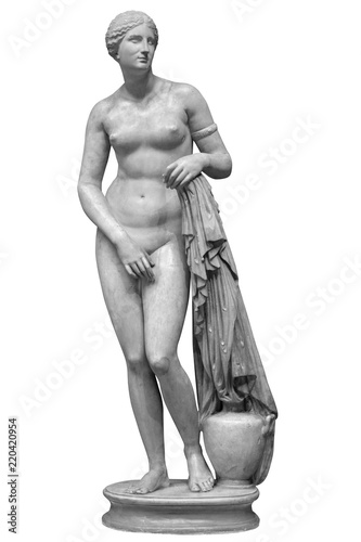 Fotomural Ancient marble statue of Venus isolated on white