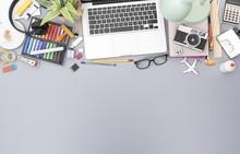 Top View Creative Office Desk Header