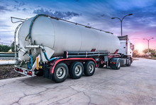 Tank Truck Carrying Fuel