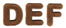 Alphabet Fur - Font 3d Render ...