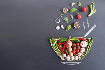 Fototapeta Soup bowl concept