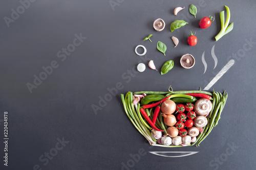 Fototapeta Soup bowl concept obraz