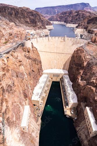 Staande foto Dam Hoover dam USA