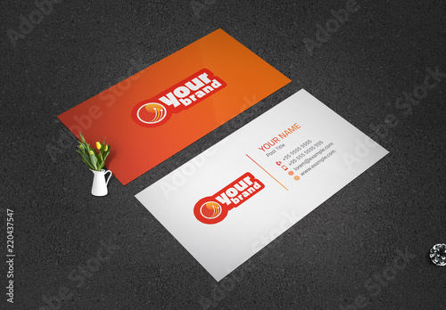 Orange And Red Business Card Layout Buy This Stock Template And