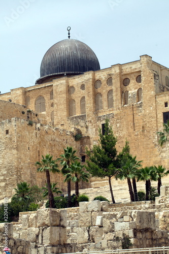 Fotomural View of the Dome of the Holy Sepulcher on the Temple Mount in Jerusalem Israel