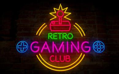 Gaming retro neon