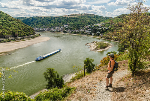 Foto  Wandern auf dem Rheinburgenweg im Mittelrheintal