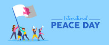 World Peace Day Banner Of Dive...