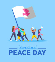World Peace Day Card For Diverse People Teamwork