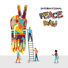 World Peace Day People Teamwork Concept