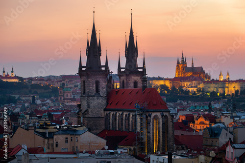 Poster Prague Ancient cathedrals of Prague