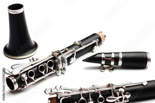 Fotomural Clarinet classical music instrument