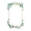 canvas print picture - Watercolor Floral Geometric Frame