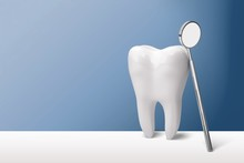 Big Tooth And Dentist Mirror I...