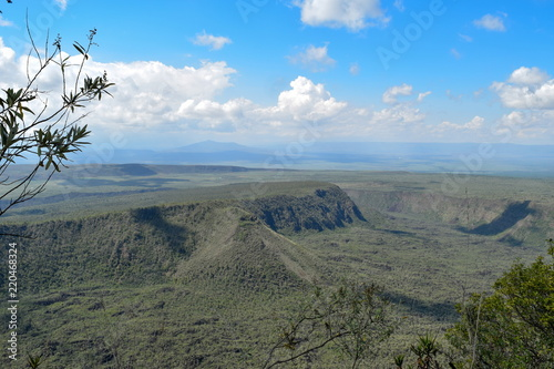 The volcanic crater at Mount Suswa, Rift Valley, Kenya