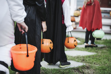 Little Children In Halloween C...