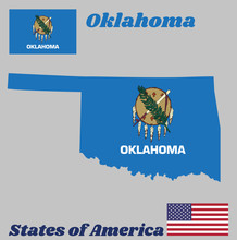 Map Outline And Flag Of Oklaho...