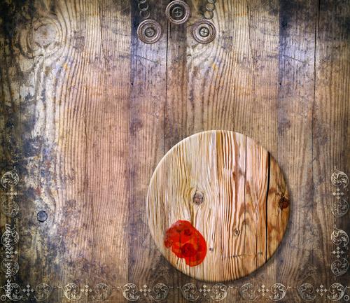 Foto op Aluminium Imagination Sfondo decorativo e vecchia maniera con legni antichi