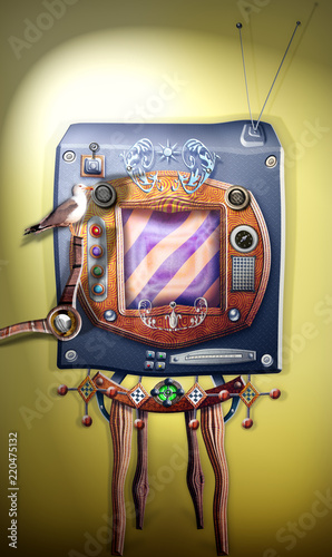 In de dag Imagination Steampunk and vintage television