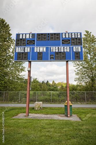 Fotografiet  Football Scoreboard