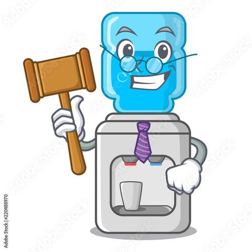 Fotografija  Judge modern water cooler isolated on mascot
