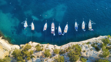 Yachts At The Sea In France. A...