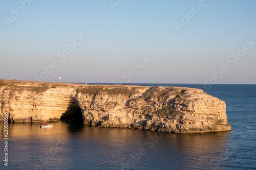 Crimean Peninsula-Cape Tarkhankut summer is pure Black sea rocky beach Wallpaper Mural