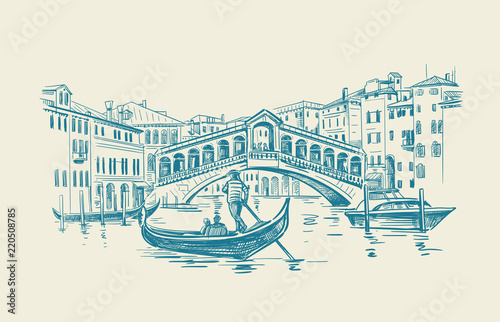 Fototapeta Venice hand drawn