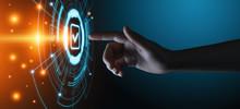 Standard Quality Control Certification Assurance Guarantee Internet Business Technology Concept