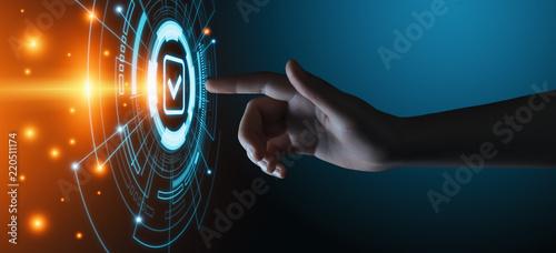 Photo  Standard Quality Control Certification Assurance Guarantee Internet Business Tec