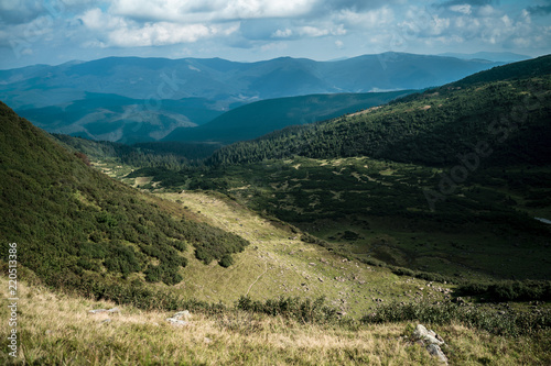 Foto op Aluminium Blauwe jeans Beautiful landscapes of the Carpathian Mountains