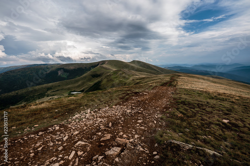 Spoed Foto op Canvas Chocoladebruin Beautiful landscapes of the Carpathian Mountains