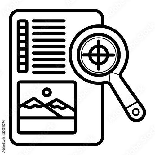 Obraz na plátně Print proof icon vector illustration