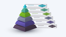 Infographic Pyramid With Step ...