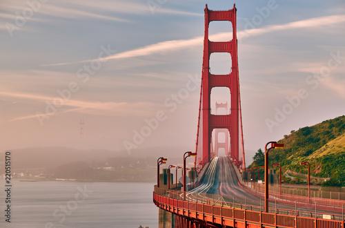 Keuken foto achterwand Amerikaanse Plekken Golden Gate Bridge view at sunrise, San Francisco