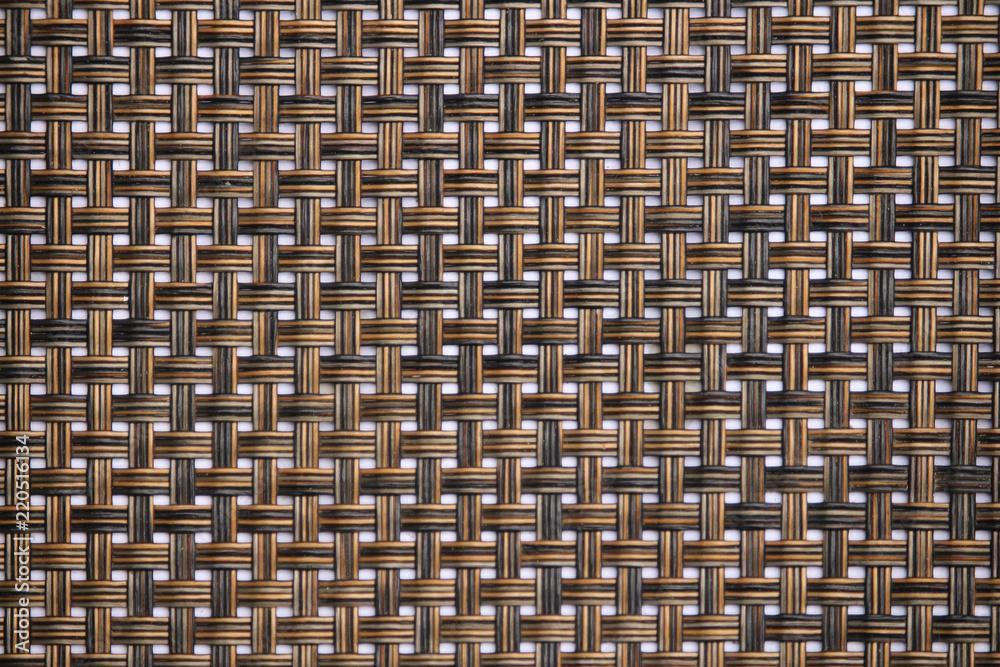 Rattan tekstura, wyszczególnia handcraft tkactwo tekstury bambusowego tło.