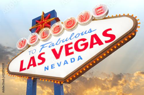 Foto op Aluminium Las Vegas Welcome to Las Vegas Sign, Las Vegas, Nevada