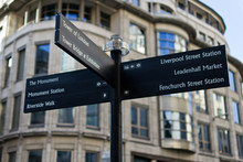 London Street Signpost With To...