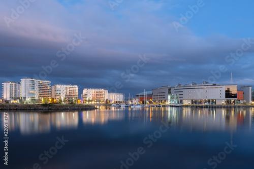 Keuken foto achterwand Noord Europa Belfast Harbor Marina Cityscape