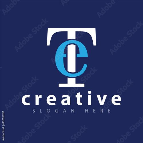 Photo  ET Initial letter logo icon vector